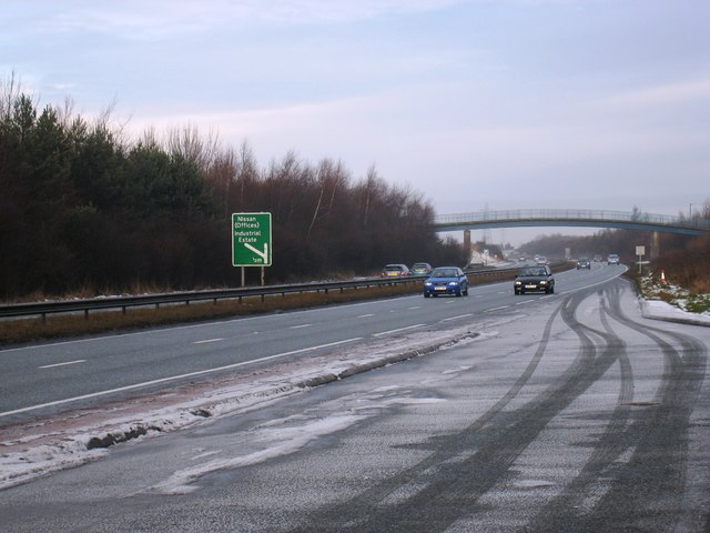 south-bound boxing day traffic on the a19 near hylton castle - geograph.org.uk - 1633443.jpg