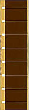 A strip of single perf 16 mm film with Super 16-sized frames.