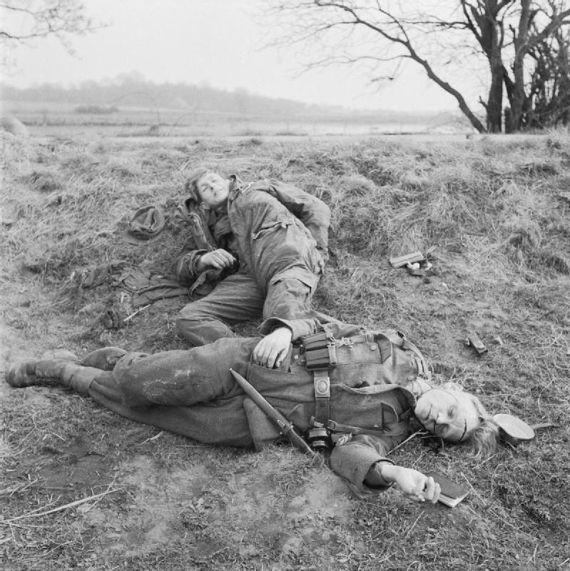 Two Dead German Soldiers WW2