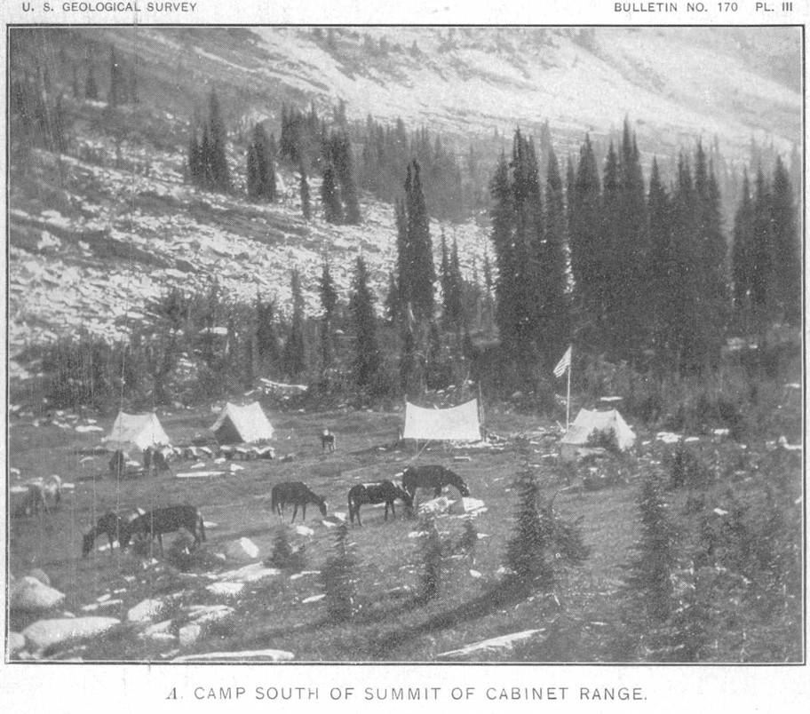 Charming File:USGS Idaho Montana 1900 Cabinet Mountains Packing Camp