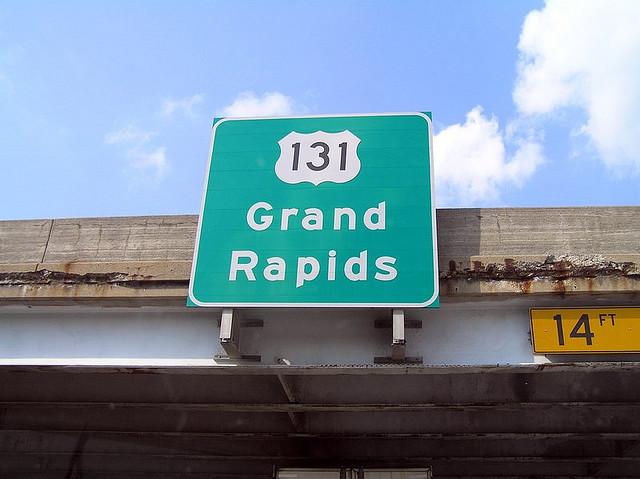 Grand Rapids 131 Road Signage