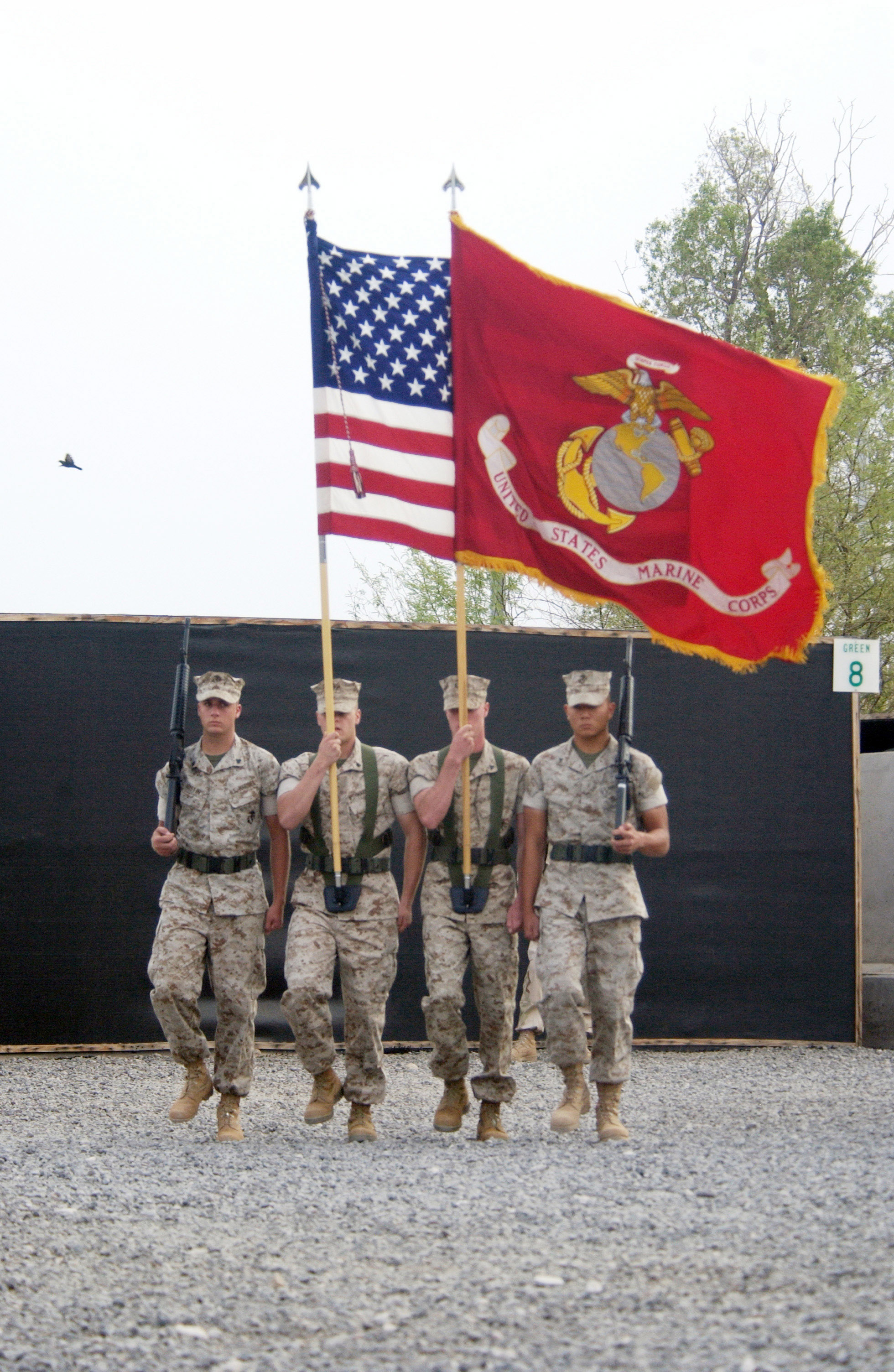 File:US Navy 060701-N-0411D-027 A Marine Corps color guard ...