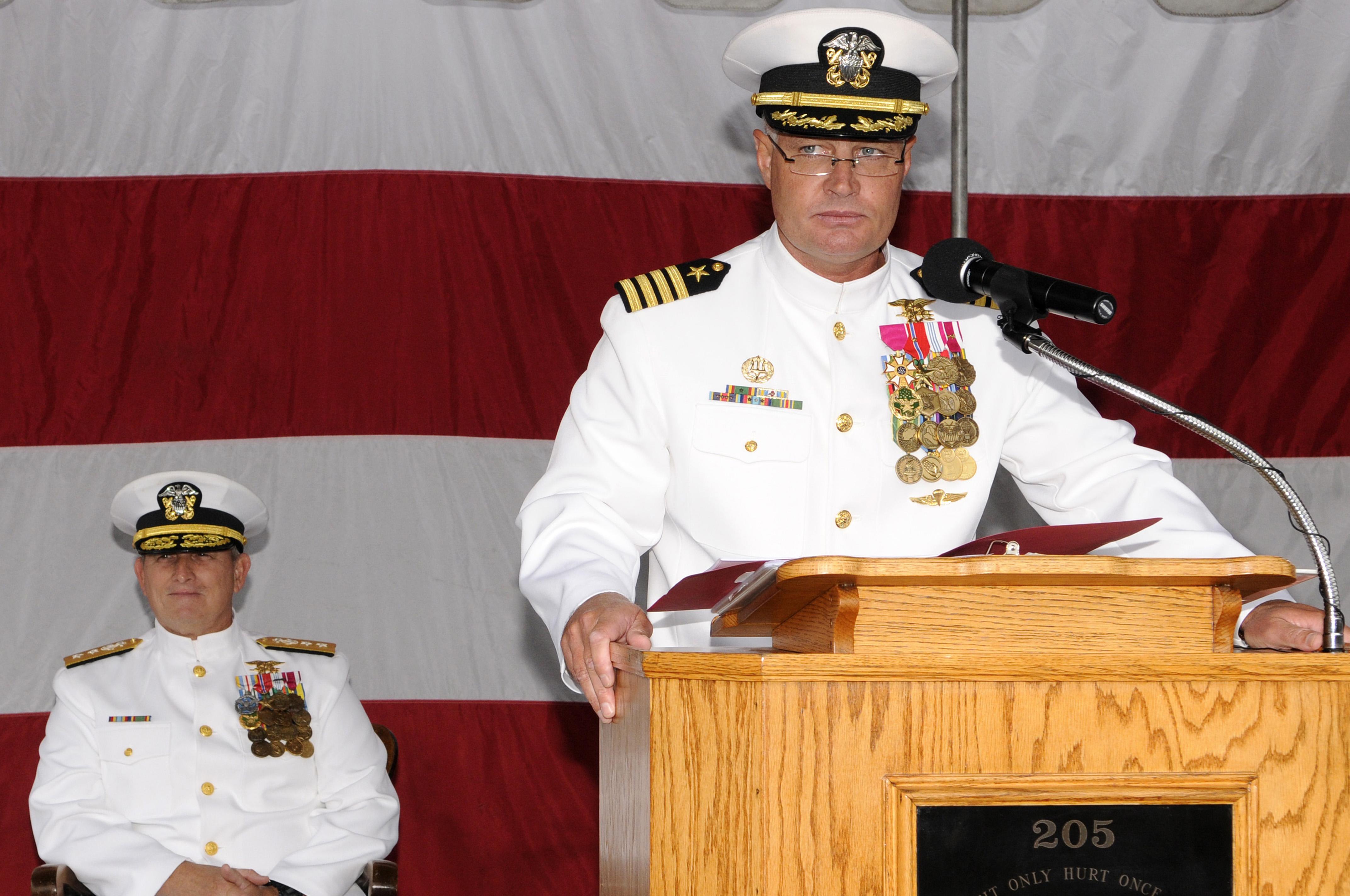 File:US Navy 100709-N-7883G-039 Capt. Stewart G. Elliott addresses ...