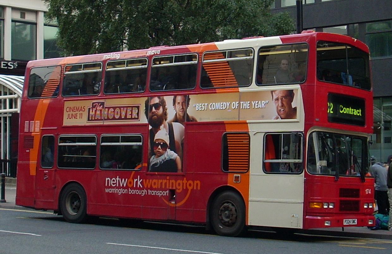 File Warrington Borough Transport Bus 174 P324 Swc Ex