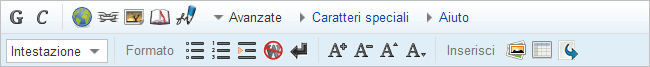 WikiEditor toolbar - no wizards - it.png
