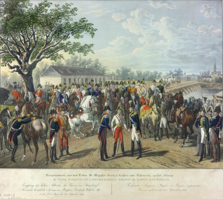1814 г. Прием союзных монархов в Вене по случаю Венского конгресса. Jpg