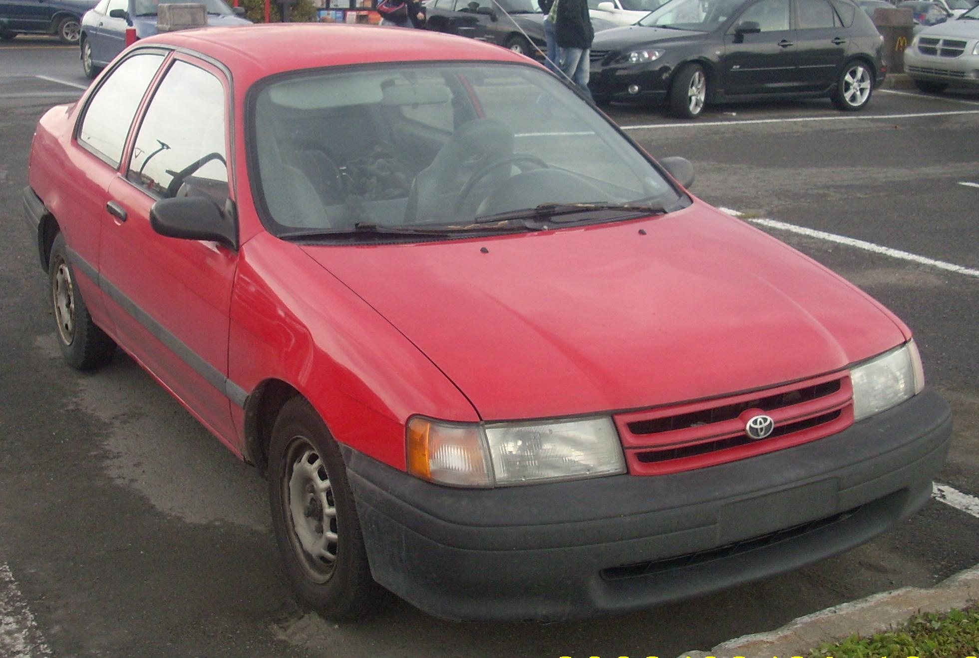 File 1993 94 Toyota Tercel Coupe Jpg Wikimedia Commons