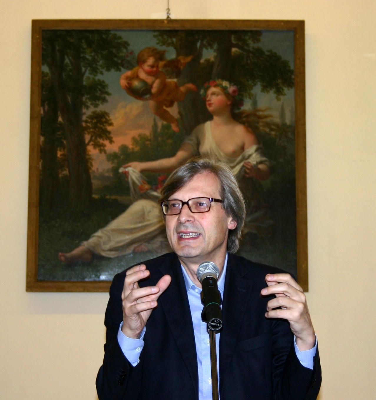 File3837 Vittorio Sgarbi Presenta La Mostra Arte Ed
