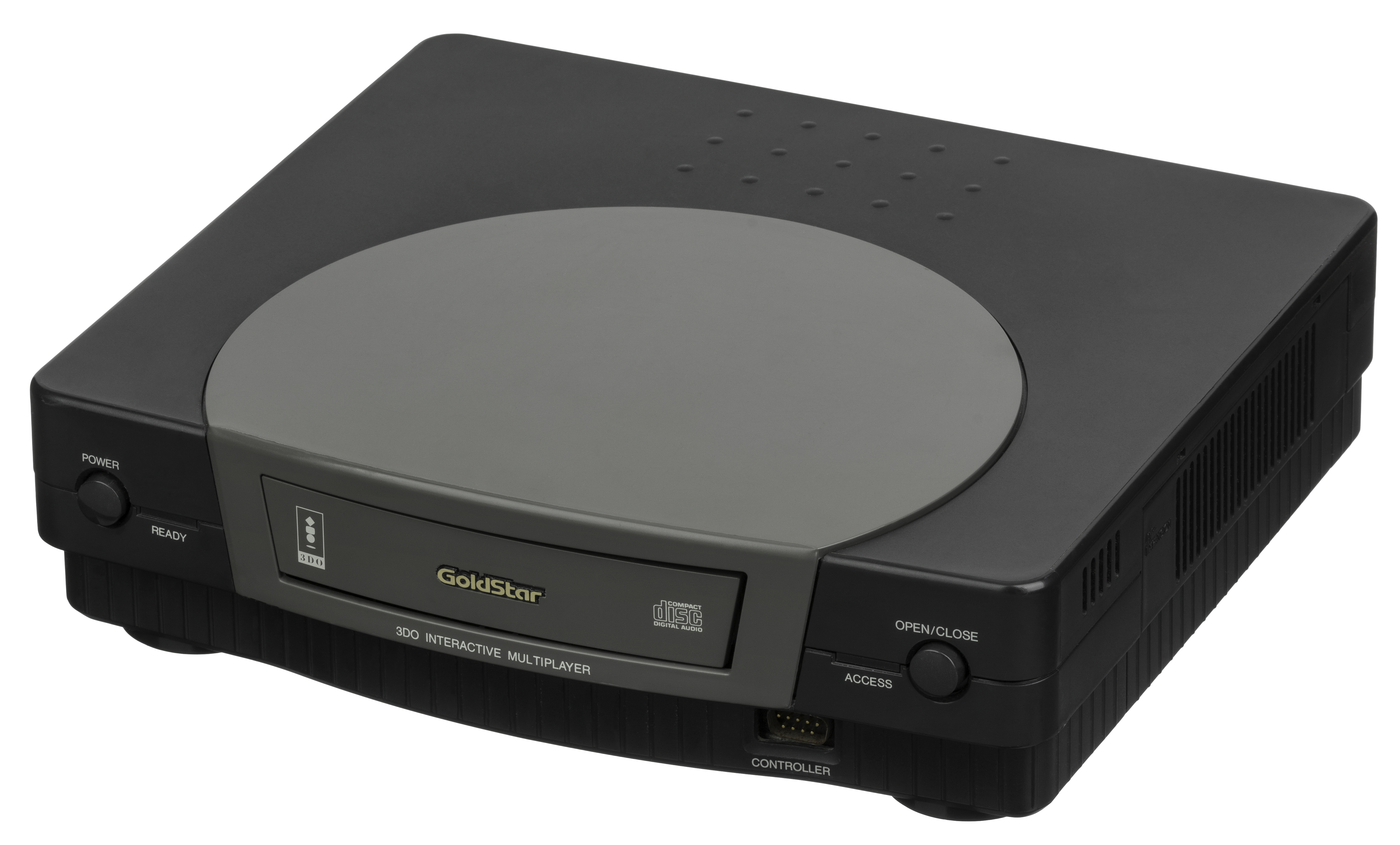 generation gaming console from the South Korean company LG Electronics. Note that the CD tray of this unit is broken, making it misaligned in the slot. Date