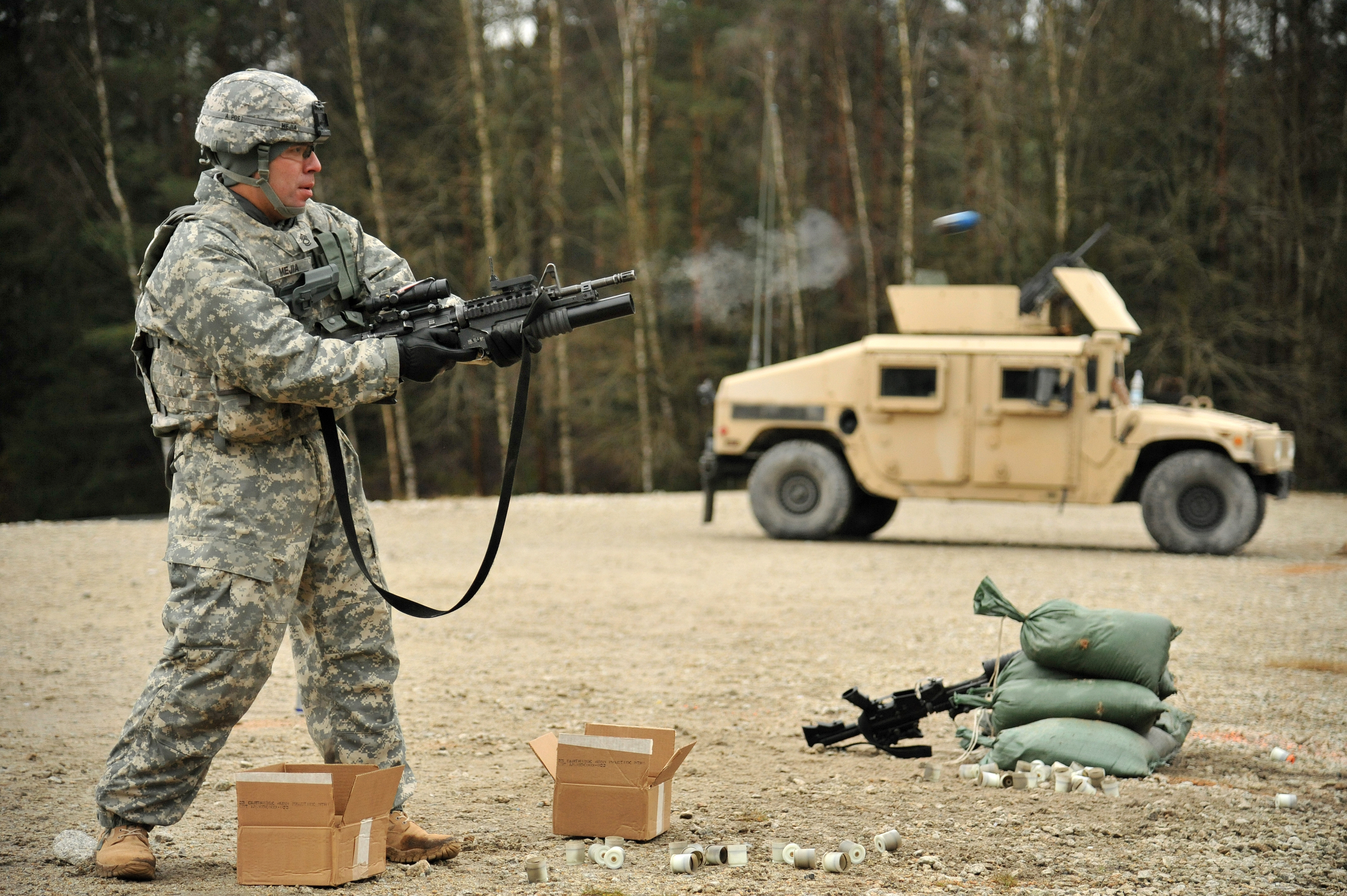 File:615th Military Police Company live fire training ...