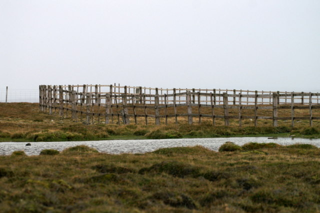 File:A circular fence, Uyeasound - geograph.org.uk - 1509611.jpg