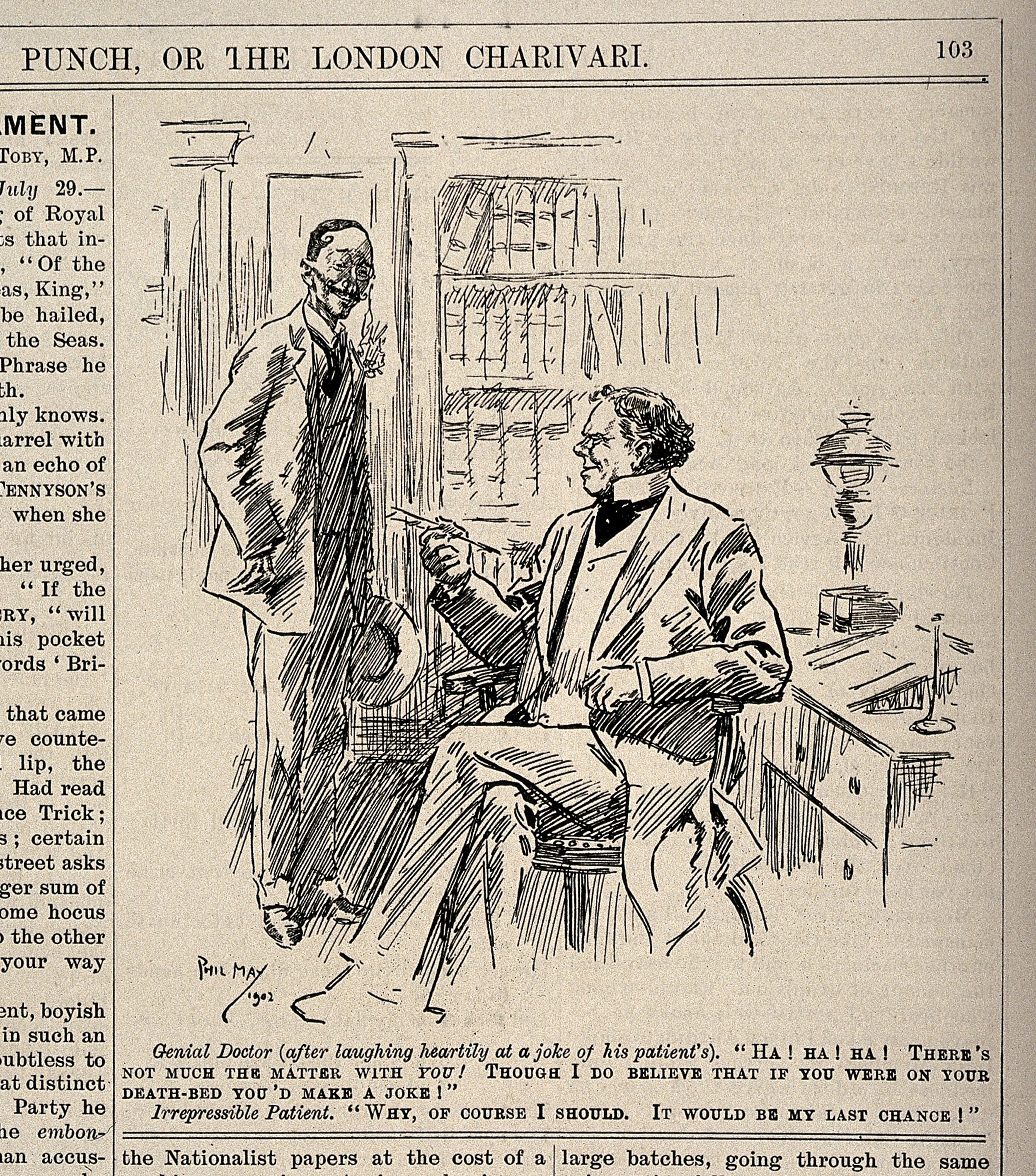 File:A doctor telling one of his jovial patients that he