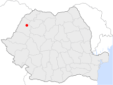 Location of Aleşd