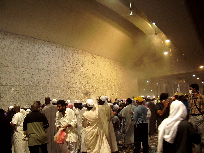 Mohammedists Throwing Stones During Hajj