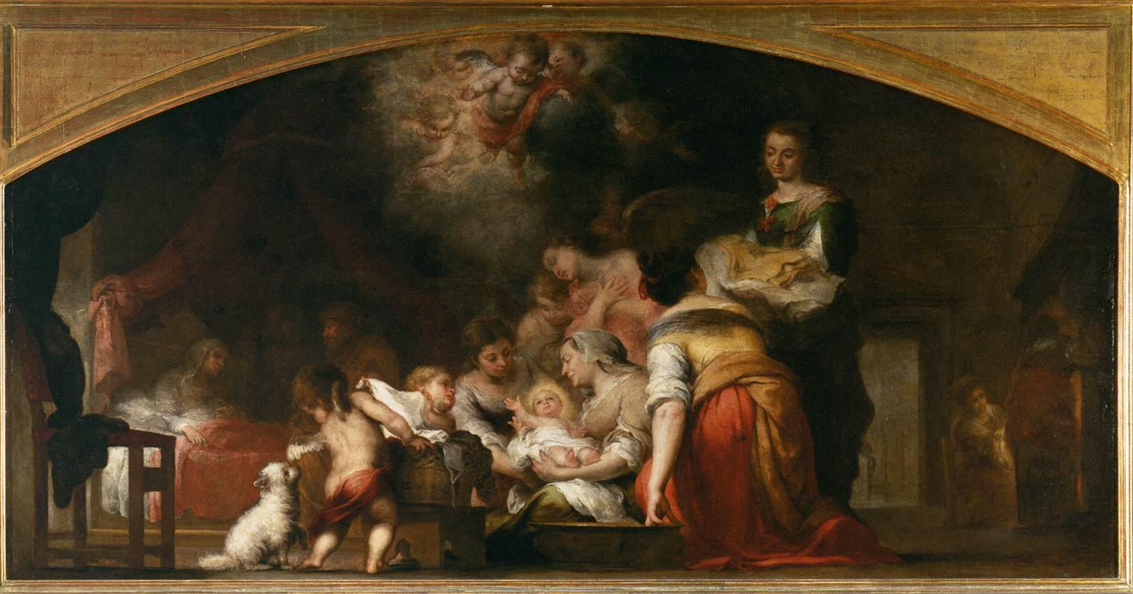Bartolomé Esteban Perez Murillo: Jomfru Marias fødsel, Louvre, Paris
