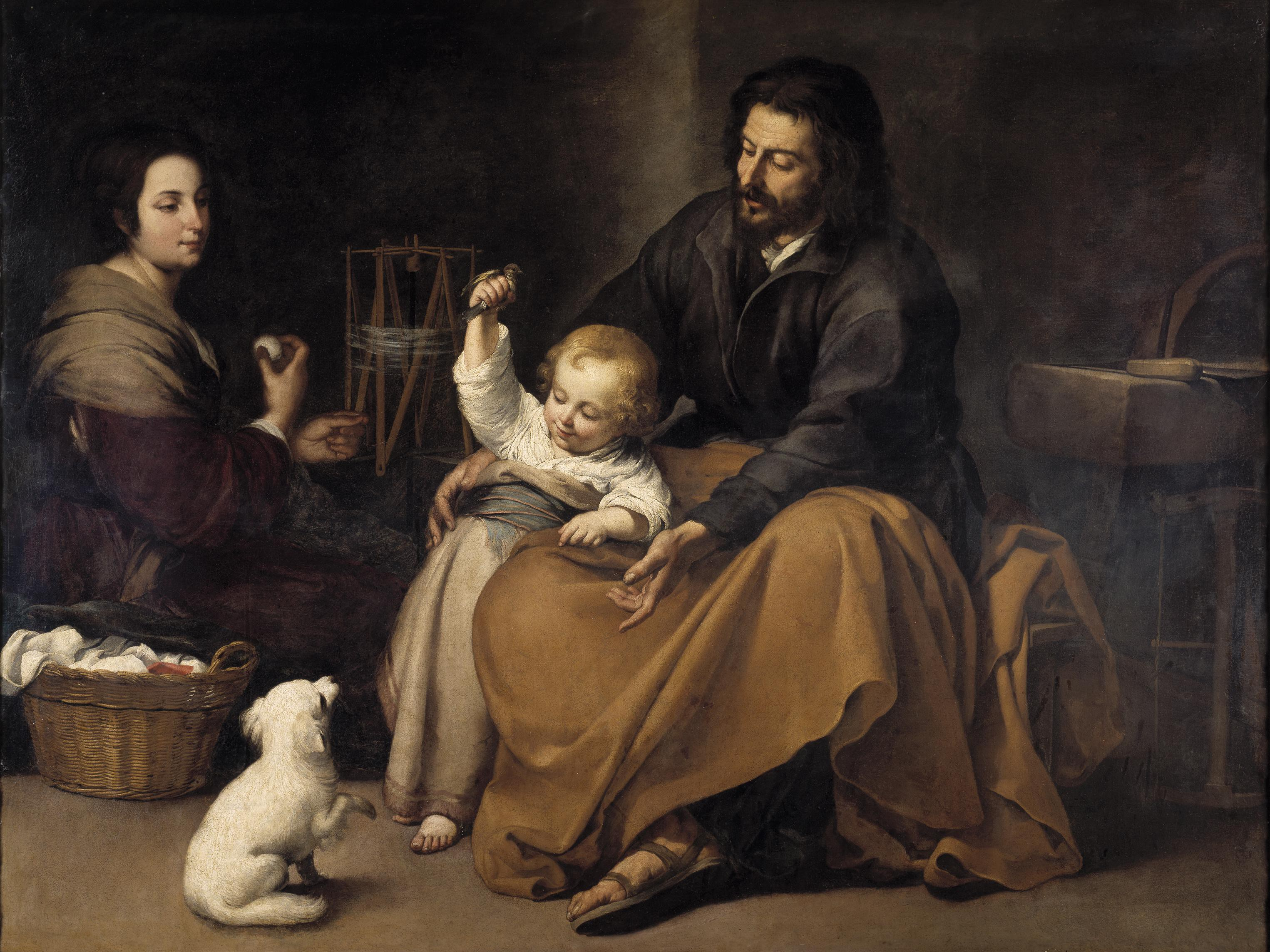 Image result for holy family with dog