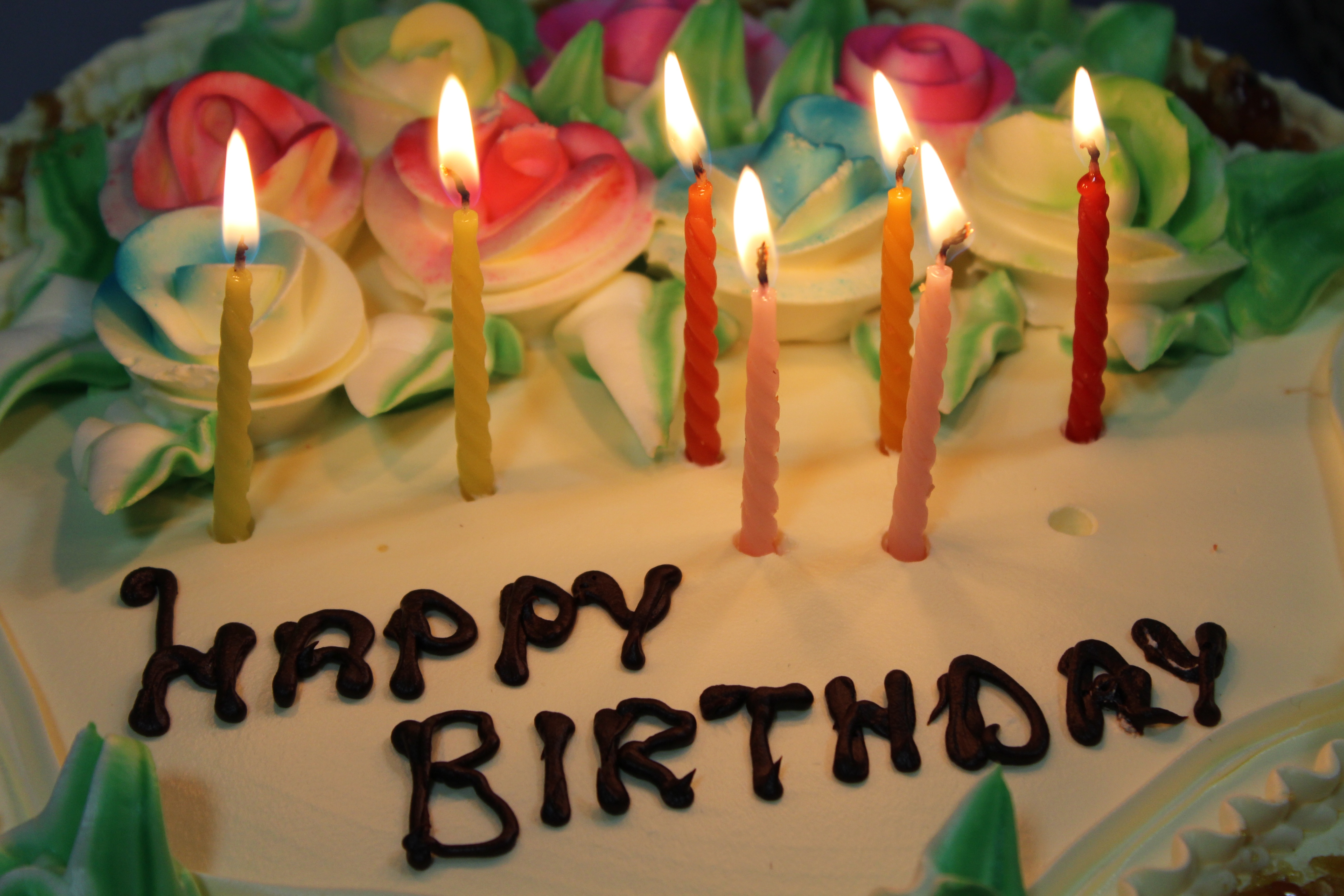 Filebirthday Cake With Seven Candlesg Wikimedia Commons