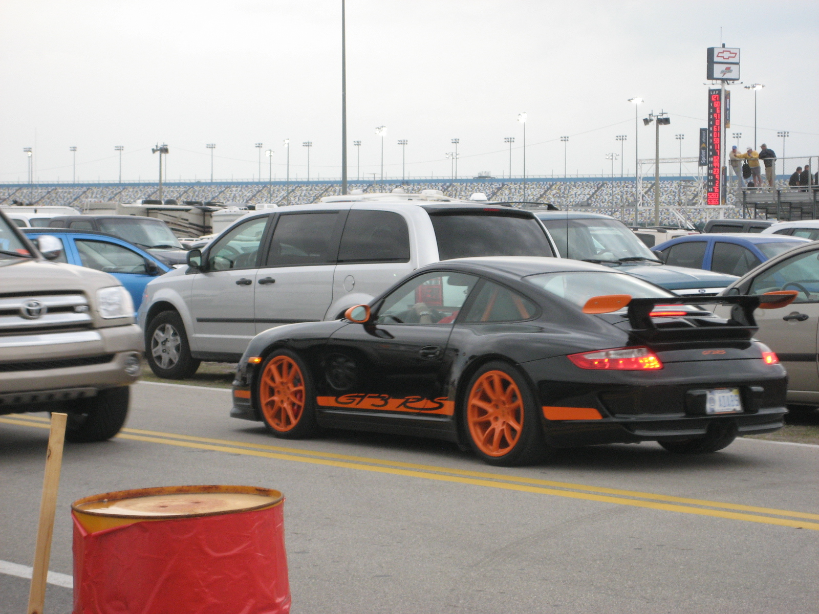 File Black orange Porsche 997 GT3 RS near Daytona Speedway