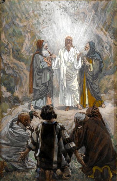 Jesus transfigured