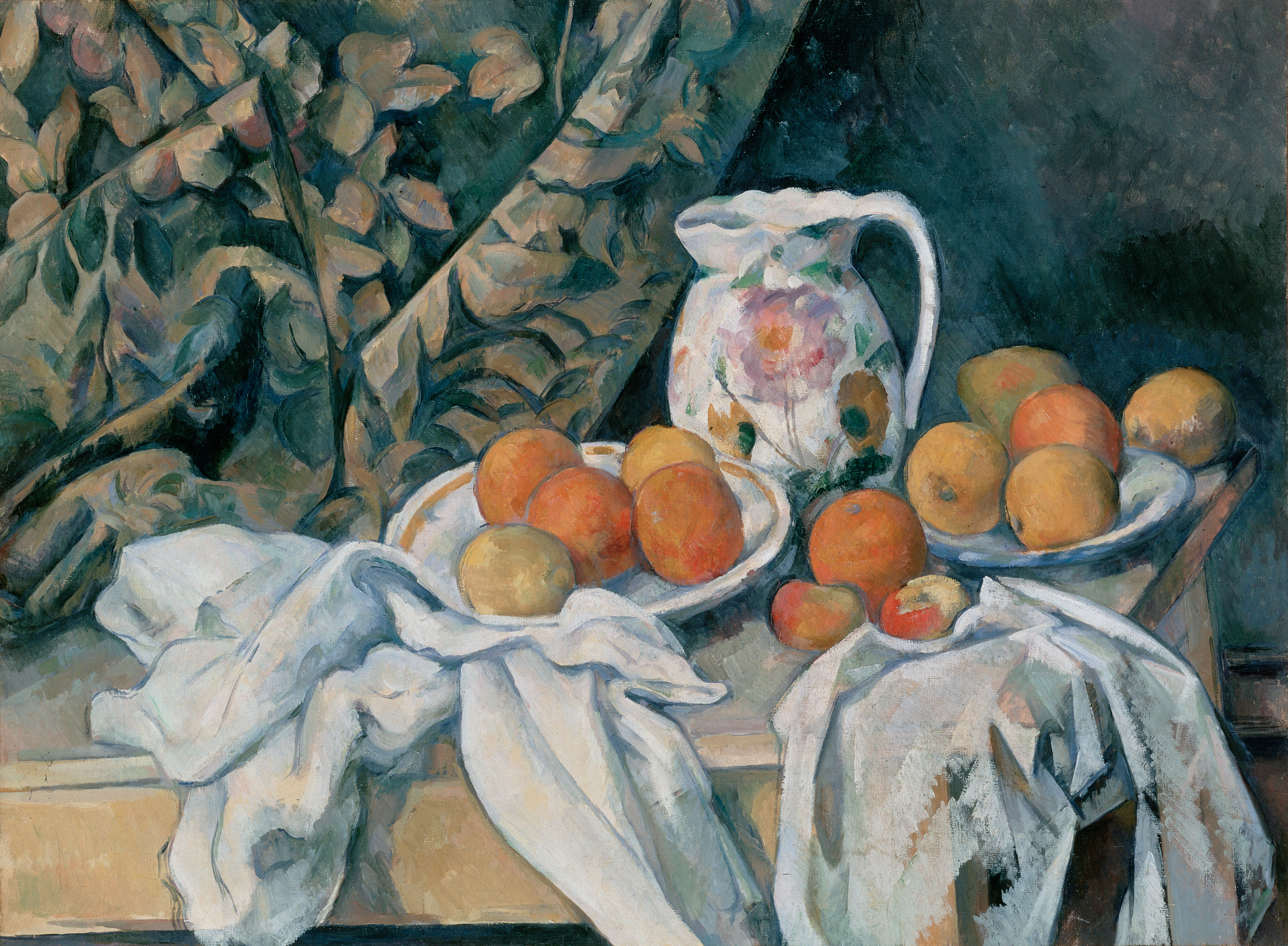 C%C3%A9zanne%2C Paul   Still Life with a Curtain Apple Paintings