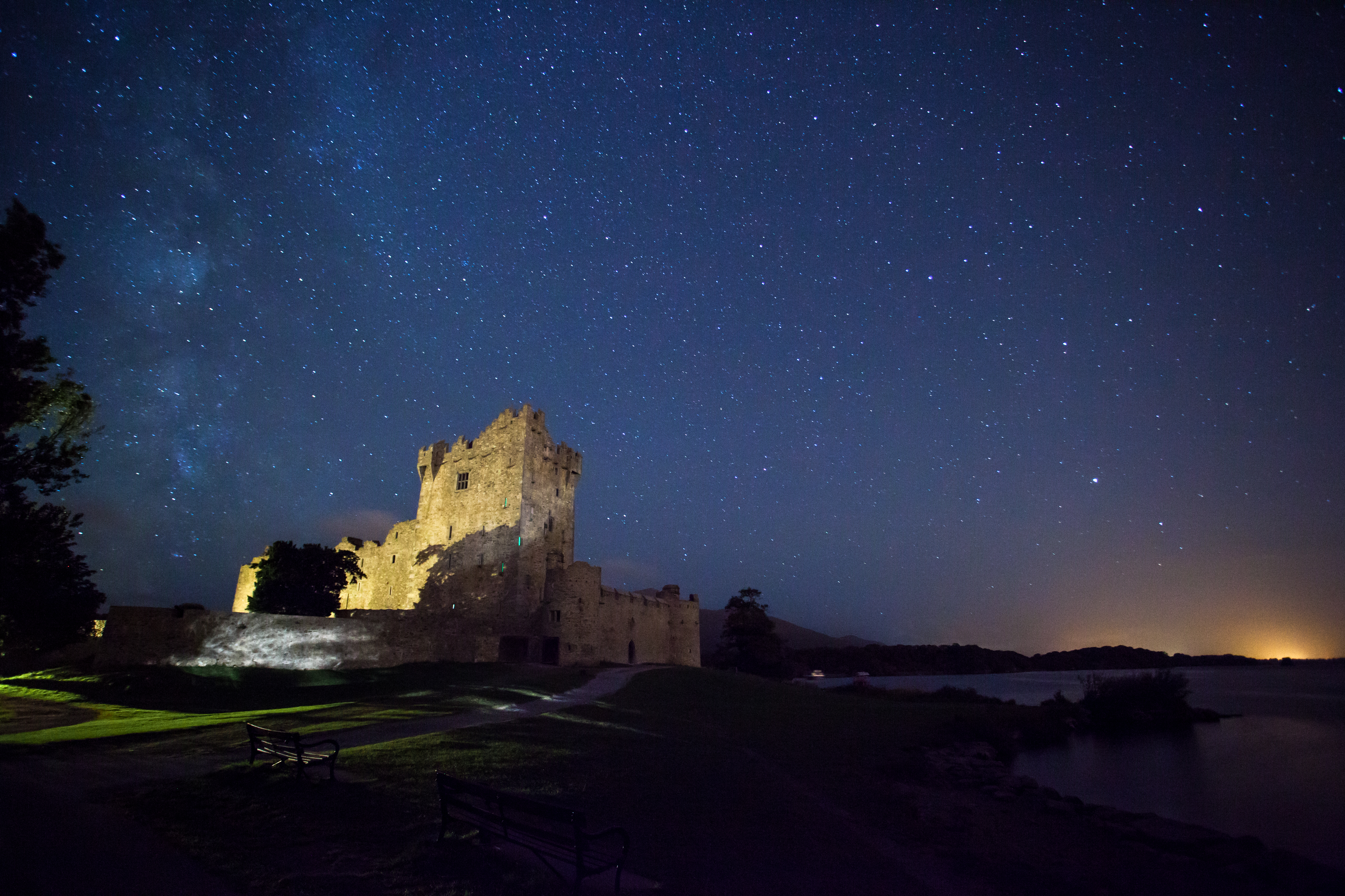 File Cf Ross Castle At Night Jpg Wikimedia Commons