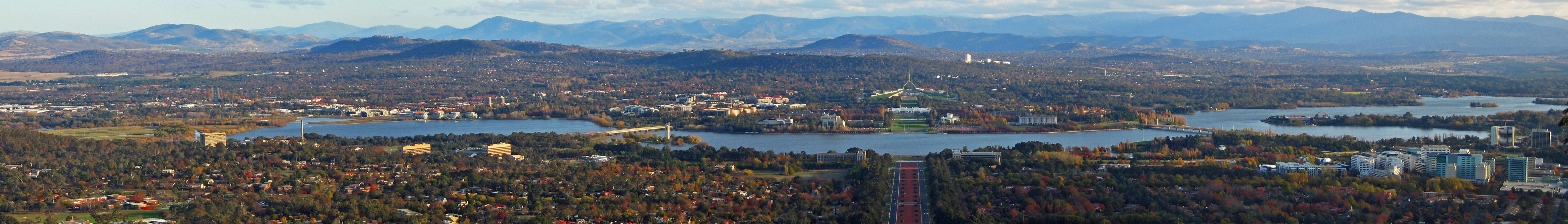 Canberra, viewed from Mount Ainslie