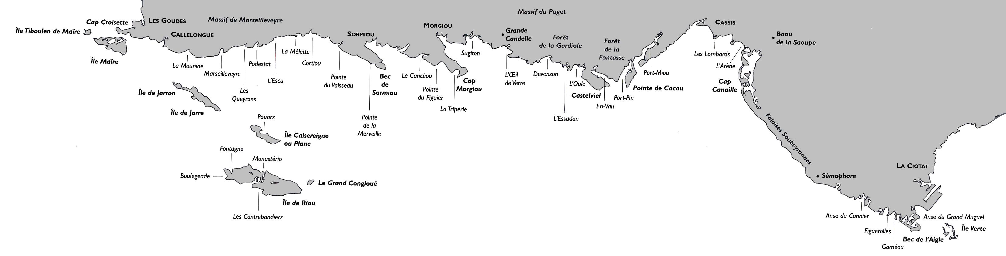 Geology of the Calanques National Park, South of France