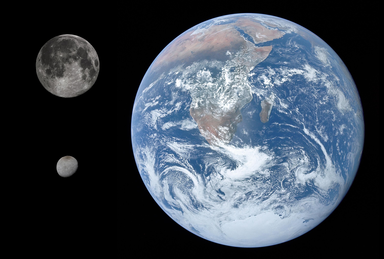 Charon Moon: File:Charon, Earth & Moon Size Comparison.jpg