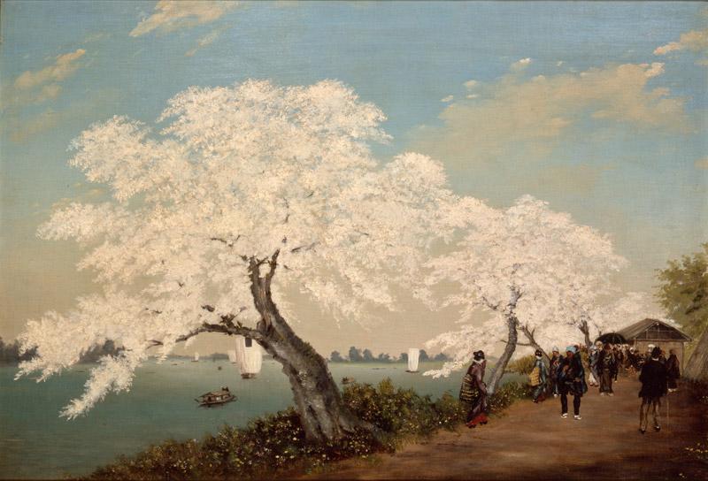 Ca s'est passé en juillet ! Cherry_Blossoms_on_the_Sumida_Embankment_by_Takahashi_Yuichi_%28Kabuki-za%29