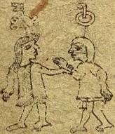 Chimalpopoca (right) captured by the Tepanecs