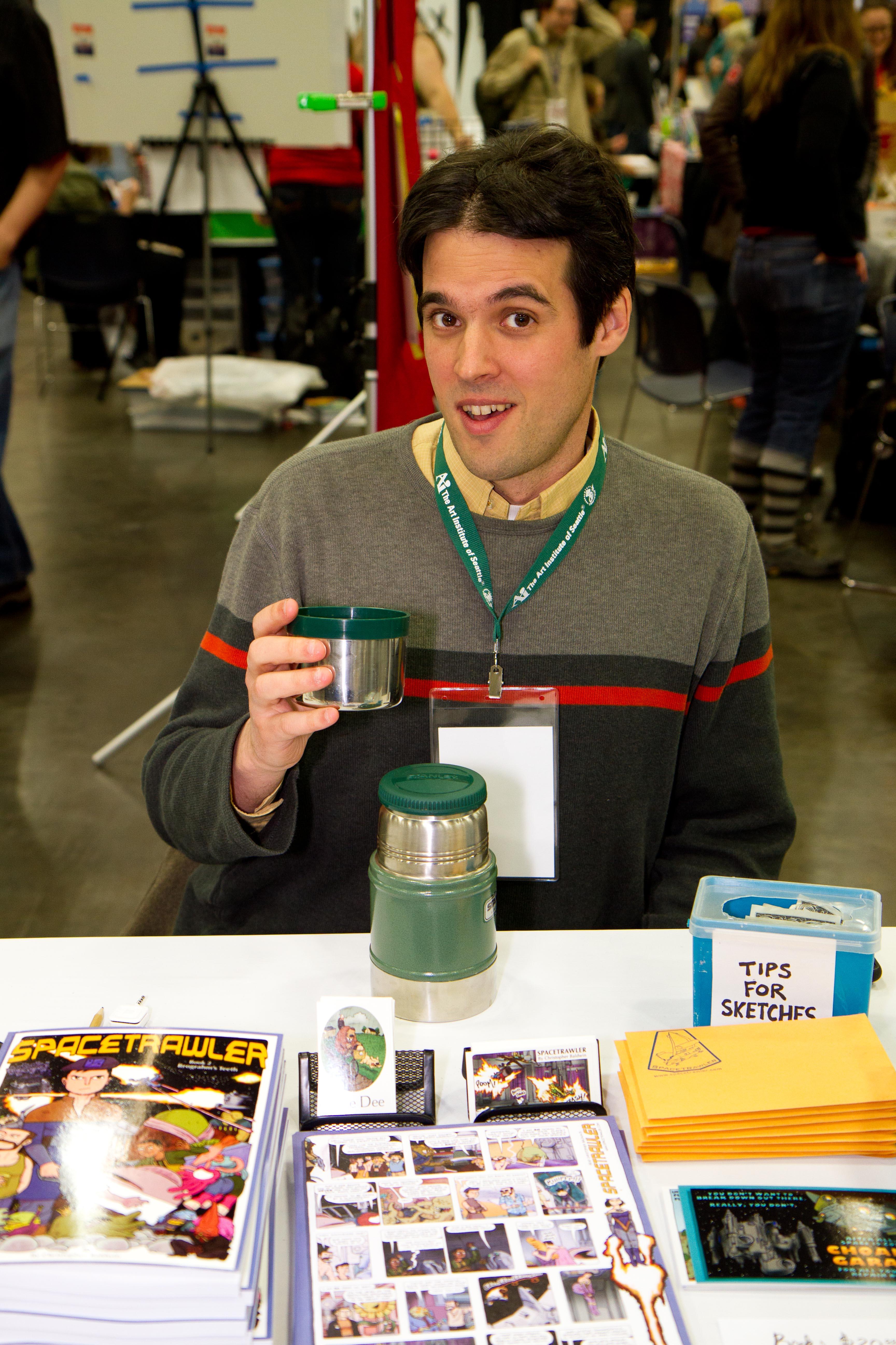 Chris Baldwin at Stumptown Comics Fest, on April 28, 2012