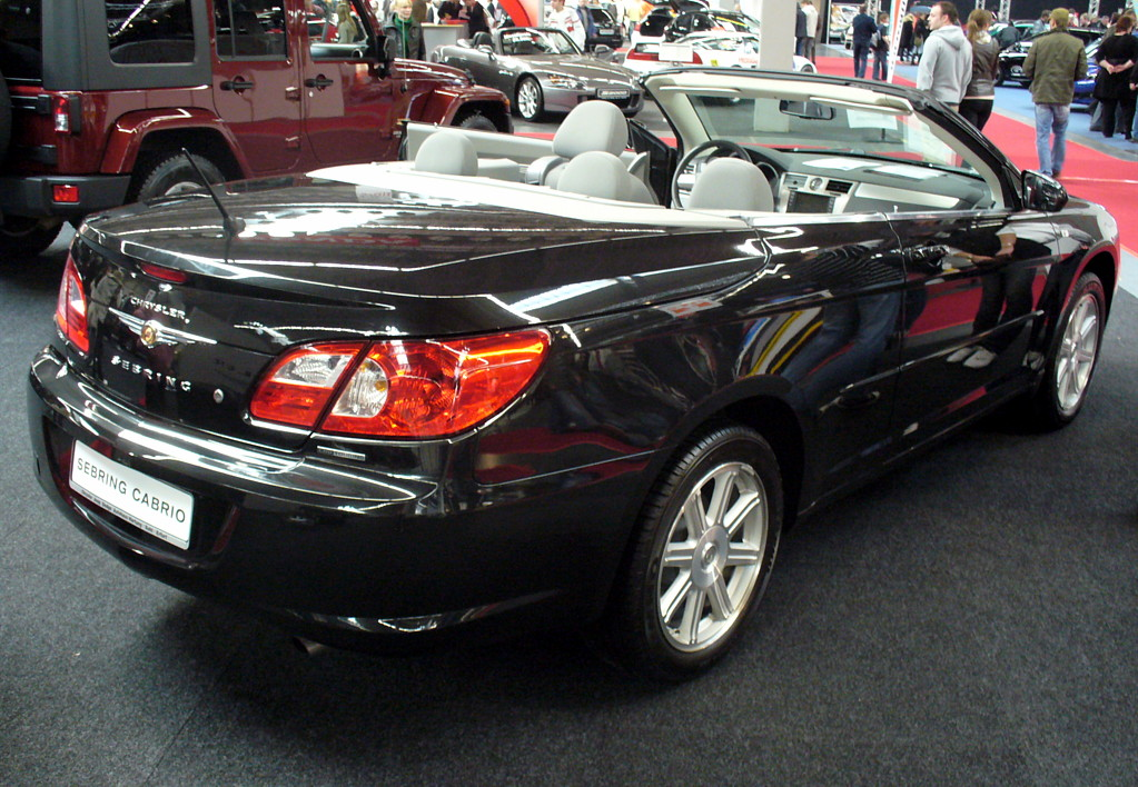 file chrysler sebring cabrio heck jpg wikimedia commons. Black Bedroom Furniture Sets. Home Design Ideas