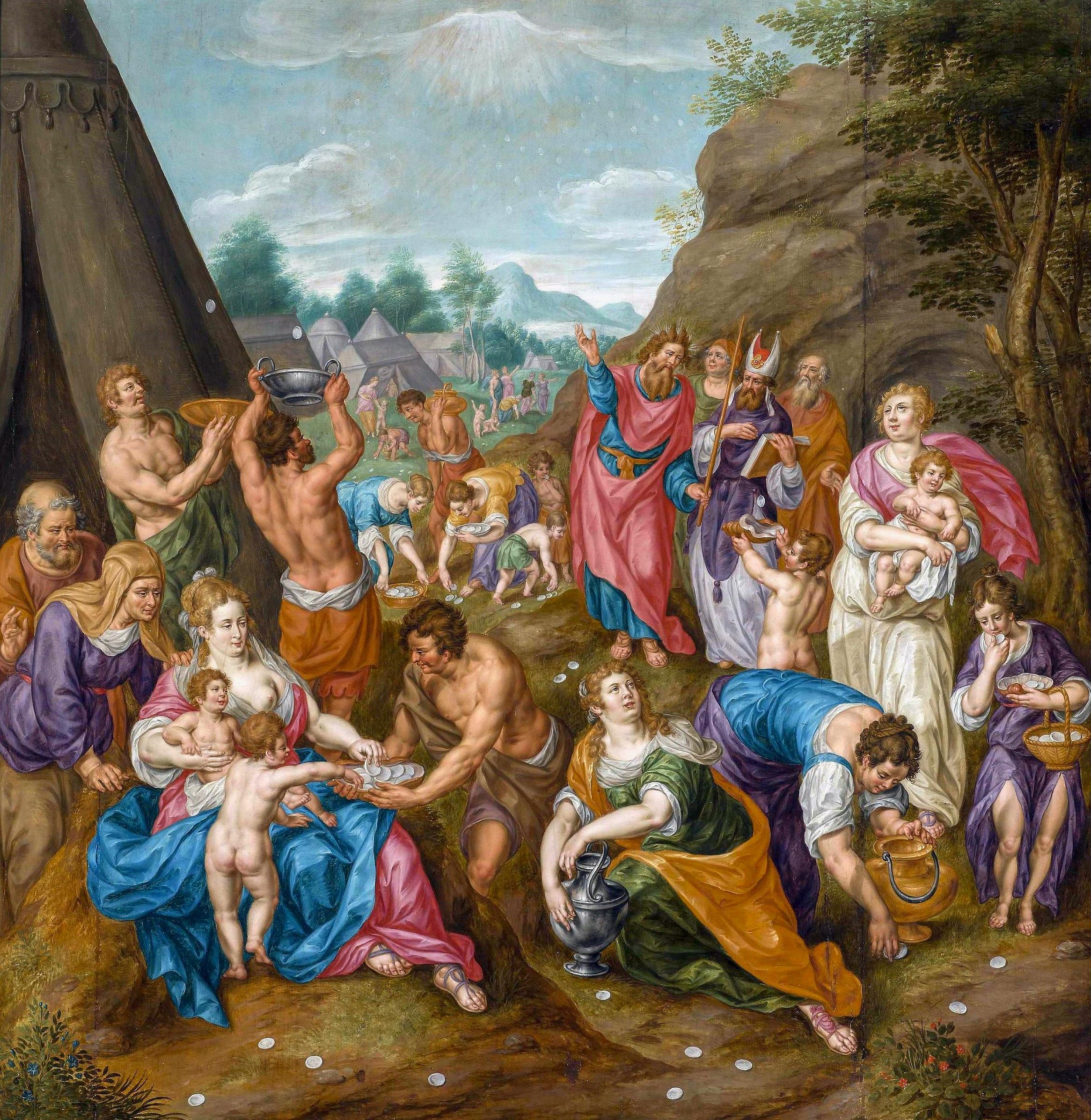 Fichier:Clerck Israelites gathering Manna.jpg — Wikipédia