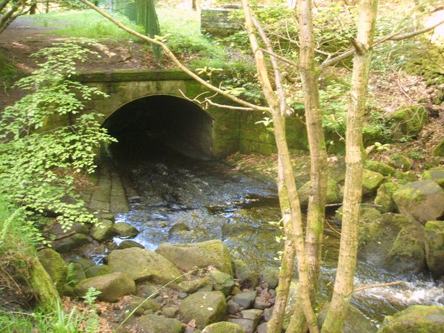 Culvert in Padley Gorge - geograph.org.uk - 1319374