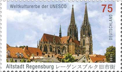 Datei:DPAG 2011 Weltkulturerbe der UNESCO Altstadt Regensburg.jpg