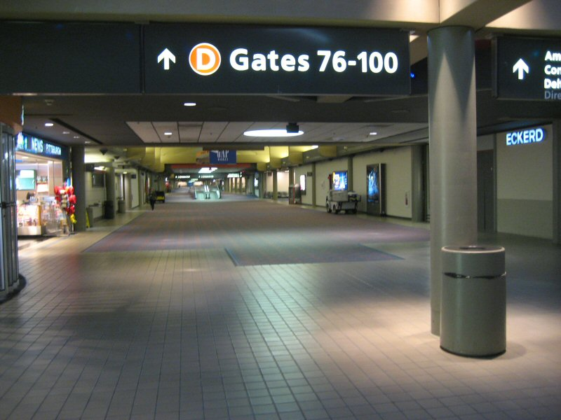 Entry to Concourse D.