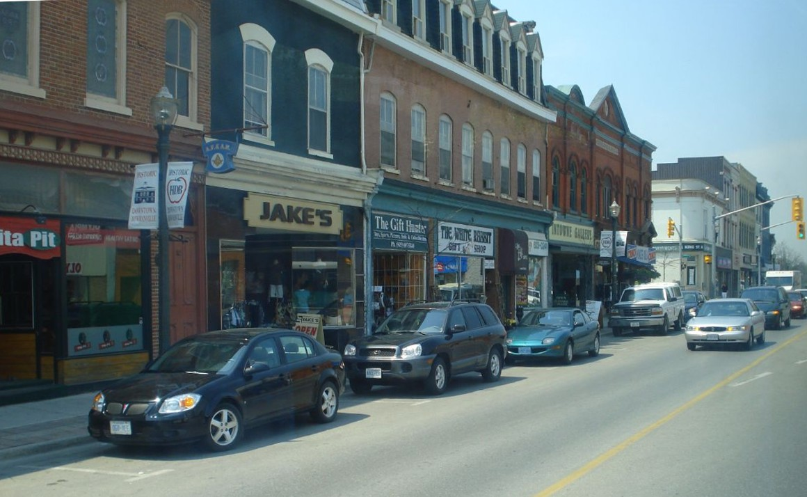 The town centre of Bowmanville, Clarington's largest community