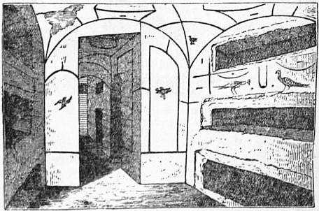 EB1911 Catacomb - Fig. 11.—Cubiculum in Cemetery of St Calixtus.jpg