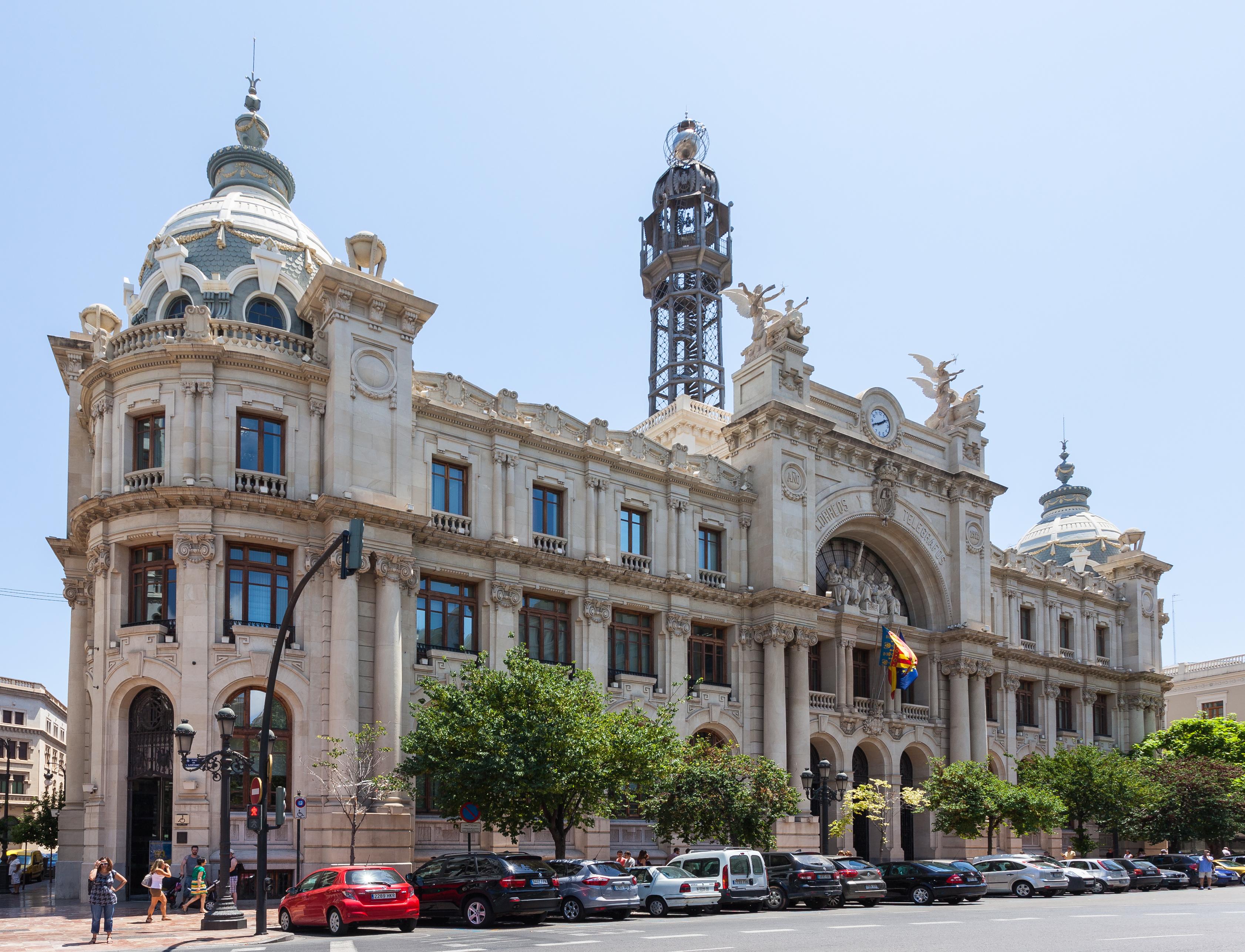 Archivo edificio de correos y tel grafos valencia espa a for Edificio de correos madrid