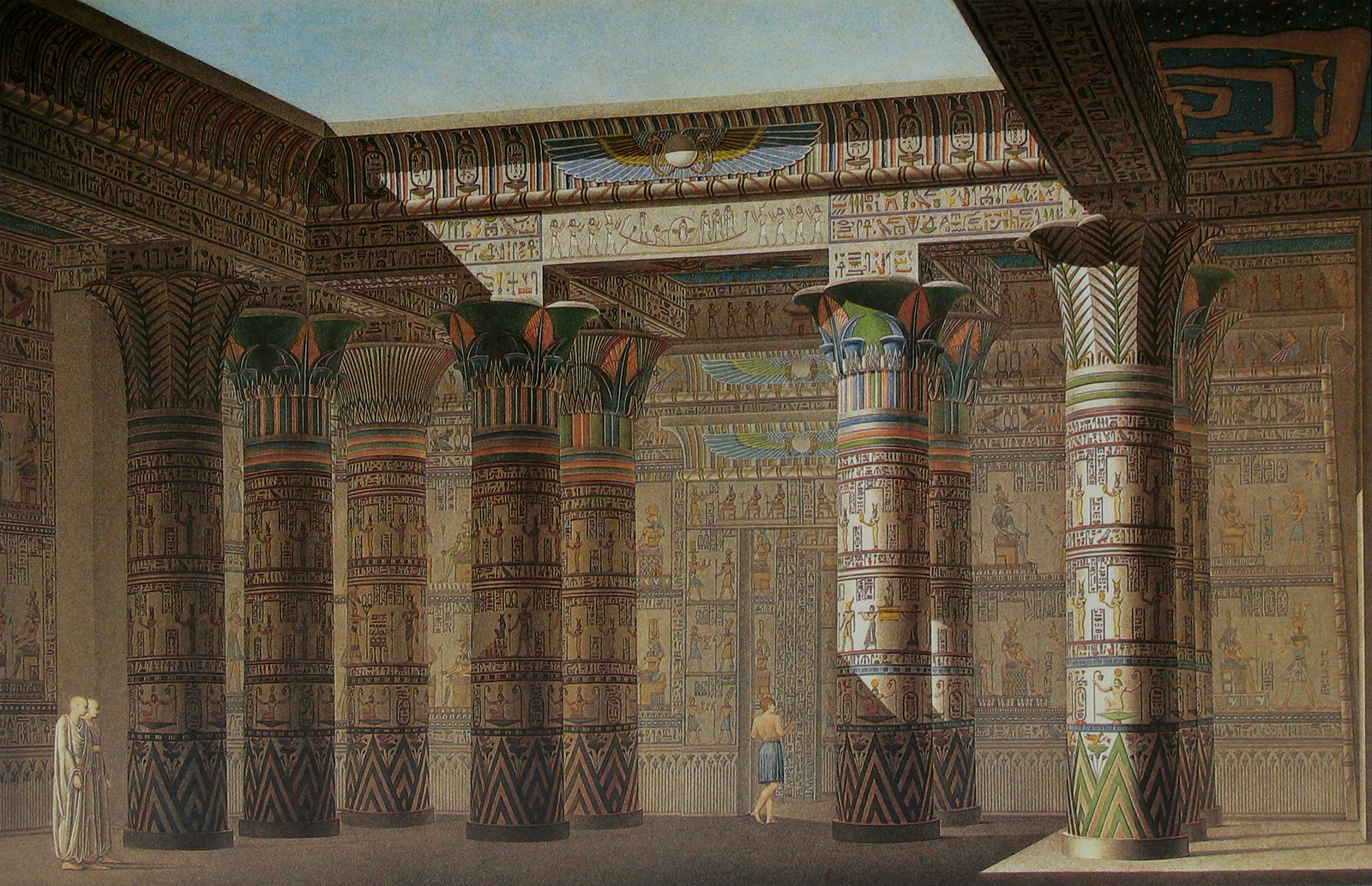 papyrus luxor wallpaper