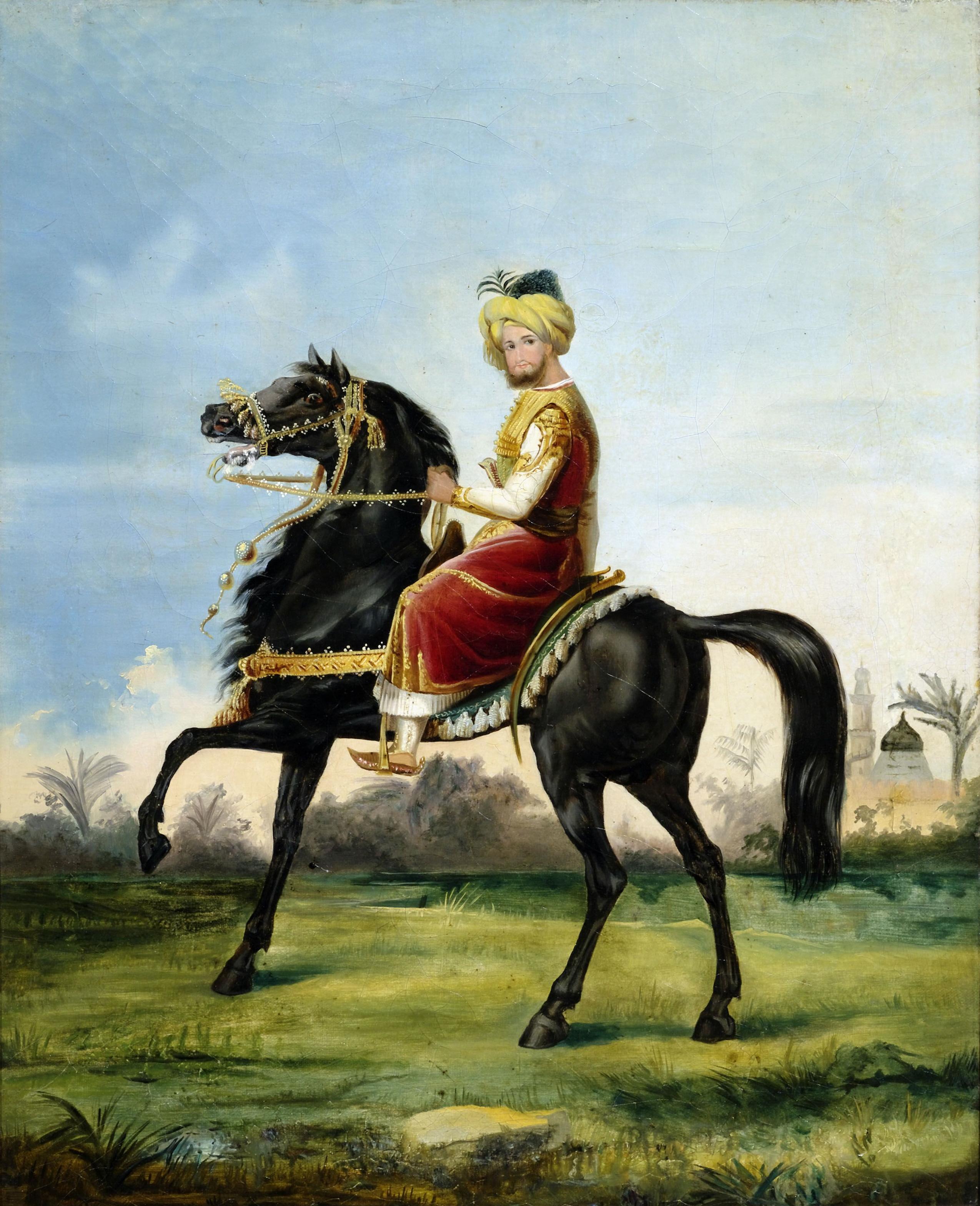 File:Emile Jean Horace Vernet (attr) Orientalischer Reiter ...