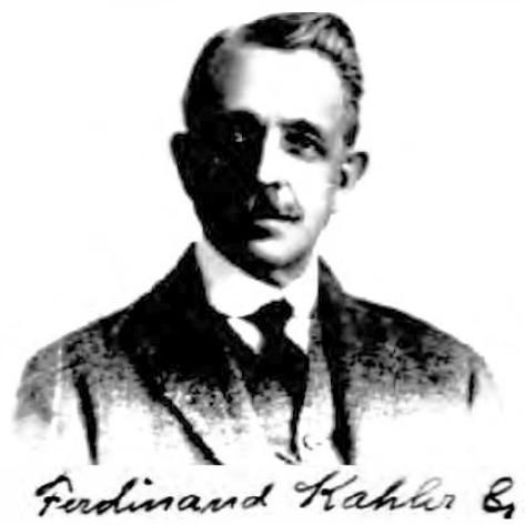 Ferdinand N Kahler Wikipedia