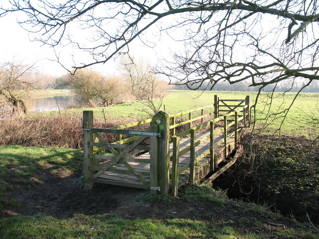 Footbridge over Demains Beck - geograph.org.uk - 694471