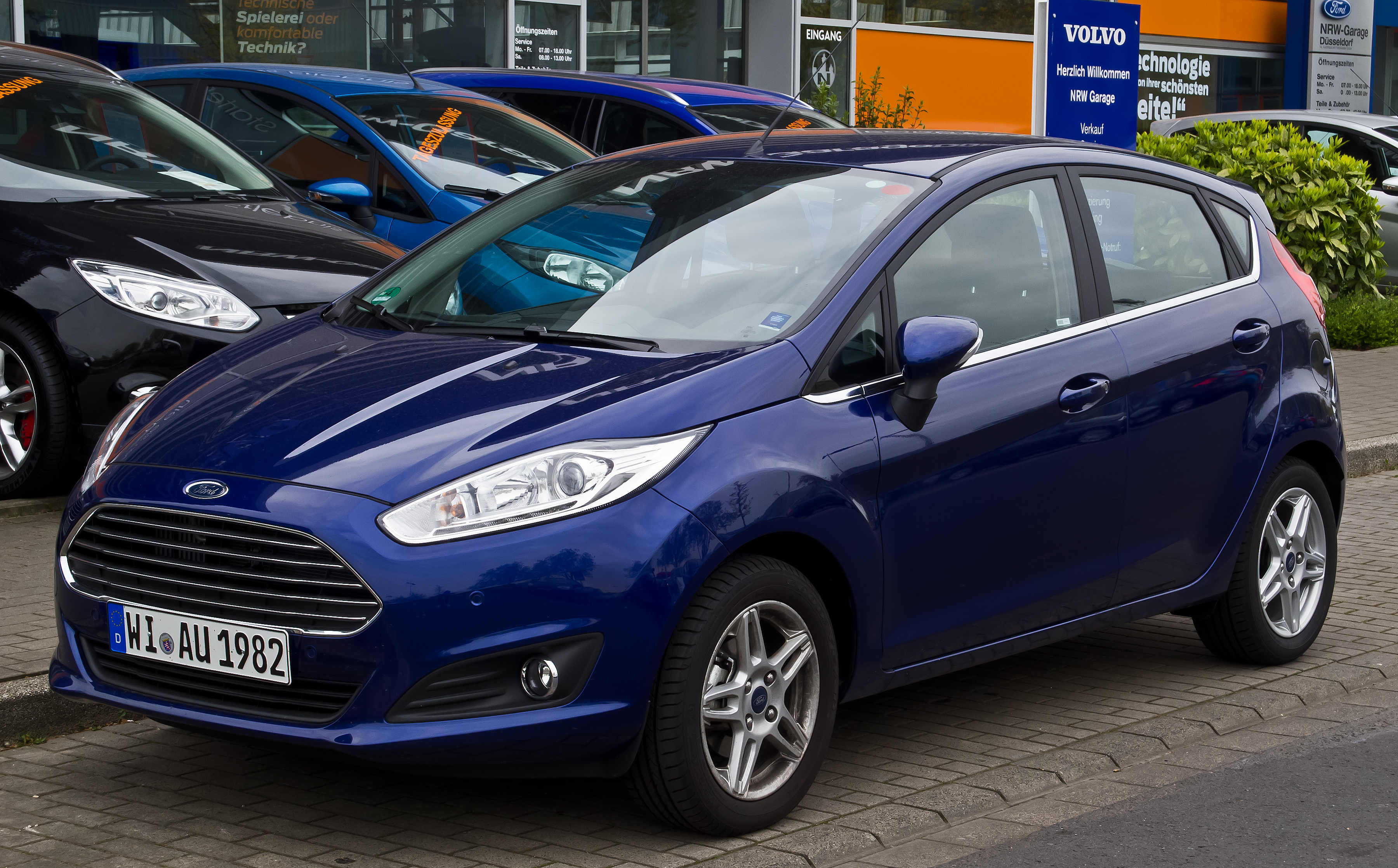 Fiestas Featuring Fords Latest Corporate Front End Started To Appear In Europe Early 2013