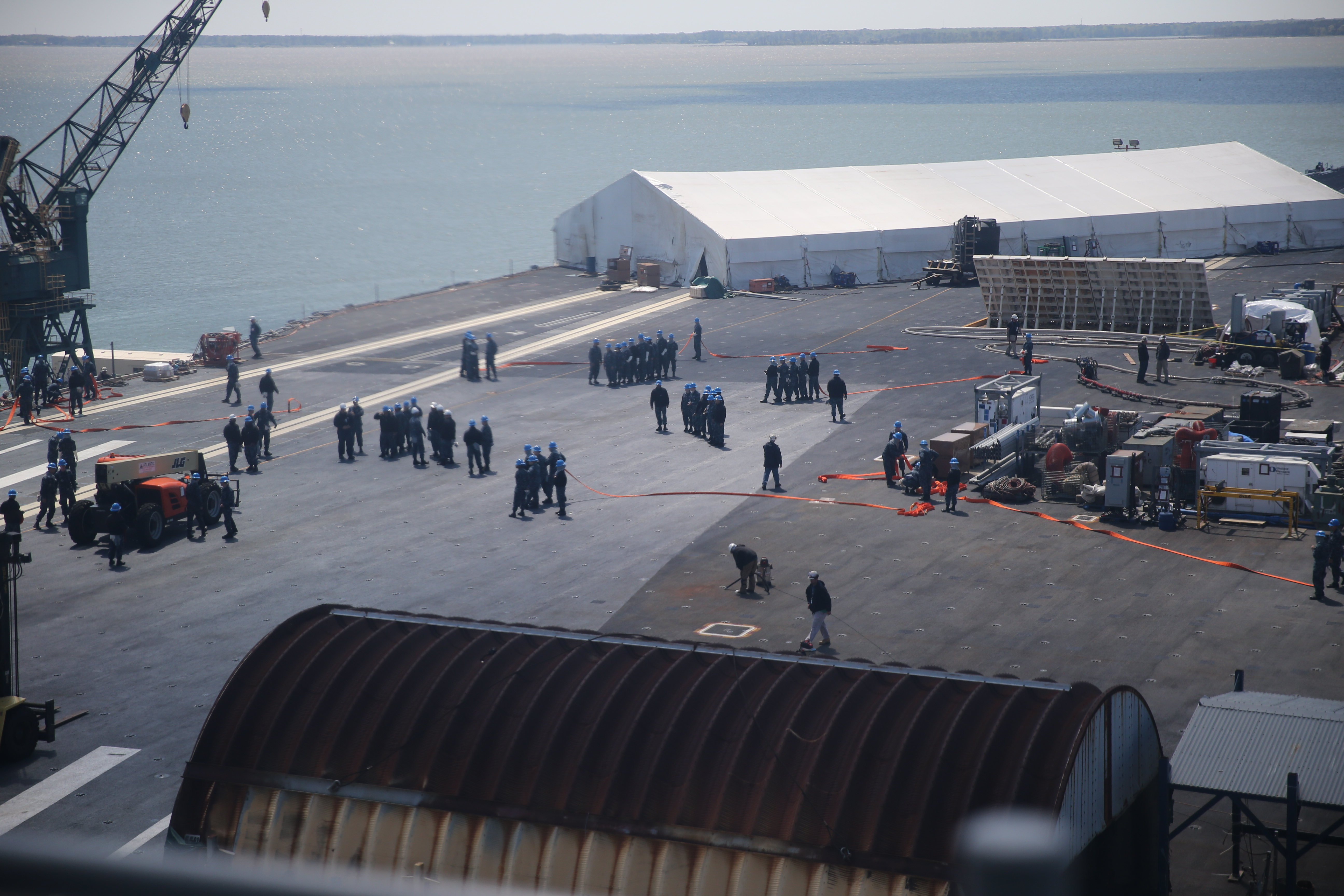 File:Ford Sailors conduct General Quarters drill 160414-N