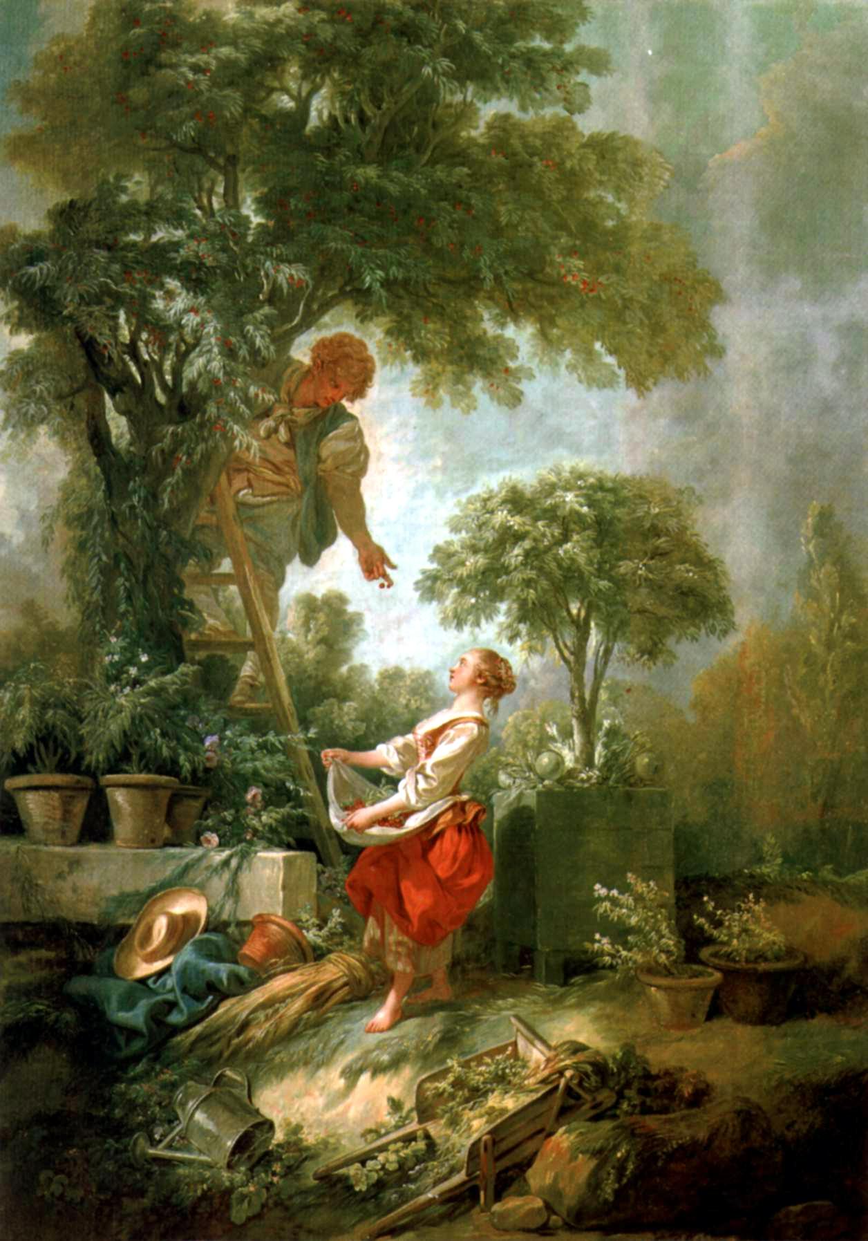 Dalla pittura alla porcellana sul parnaso for Donare un giardiniere
