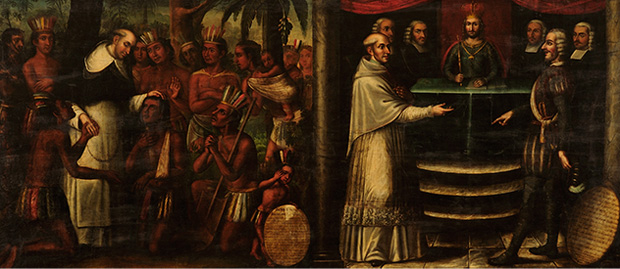 Bartolome and Natives, Speaking with Spanish Royalties
