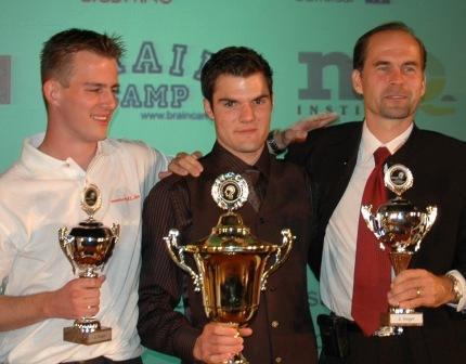 Gunther Karsten at the German Memory Championships (right)