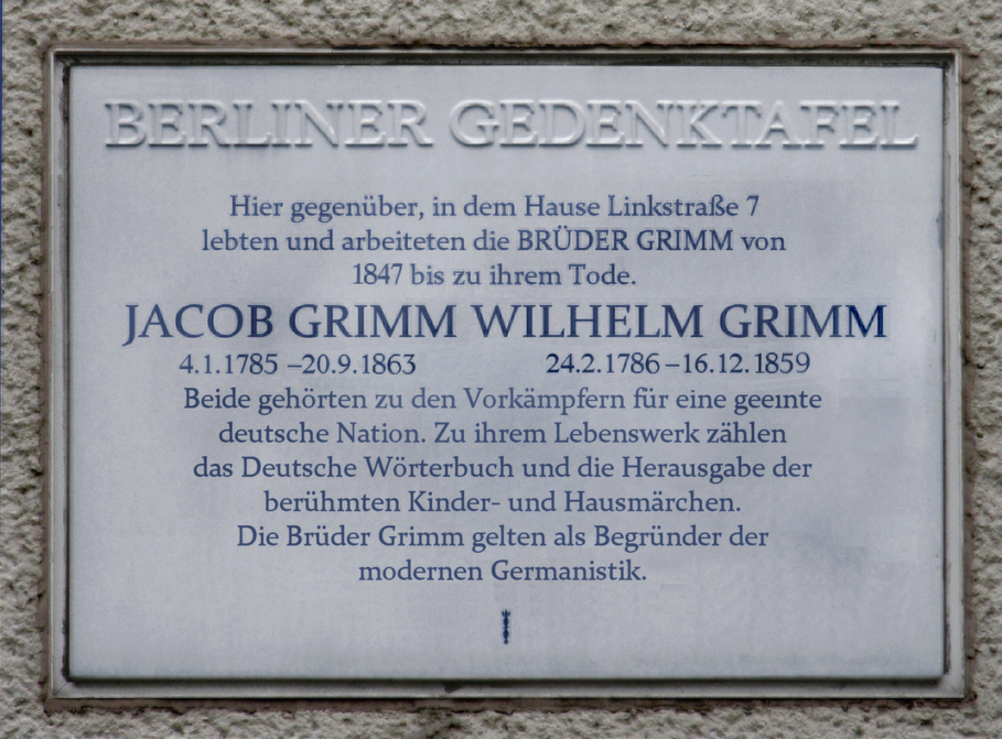 bedeutung fr die sprachwissenschaftbearbeiten quelltext bearbeiten - Bruder Grimm Lebenslauf