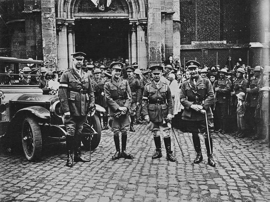 File:H.R.H. the Prince of Wales with General Currie and ...